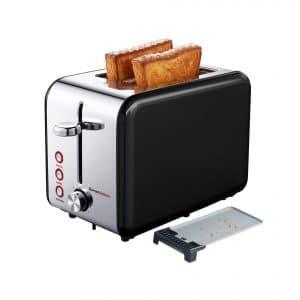 Bonsenkitchen 2-Slice Toaster, 7 Shade Setting