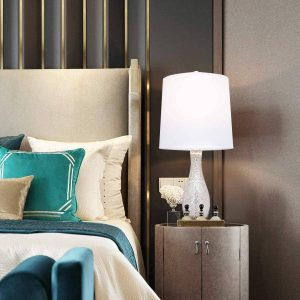 Oneach Table Lamps Set of 2 20 Inches Modern Nightstand Lamp