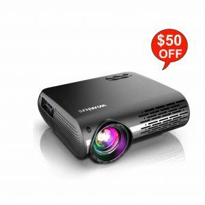 WiMiUS 1080P 6800 Lumens Video Projector