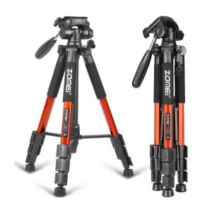 ZOMEI 58-Inches Compact Lightweight Portable Tripod Stand