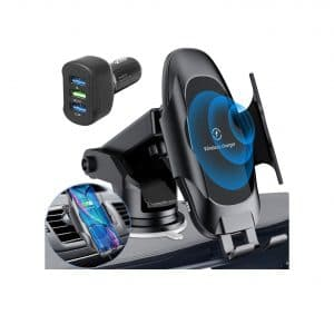 Homder Wireless Fast Car Charger Mount with Automatic Clamping
