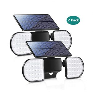Bebrant Solar Lights Outdoor 56 LED Motion Sensor Lights