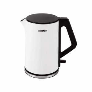 COMFEE' 1.5L Double Wall Stainless Steel Electric Water Kettle