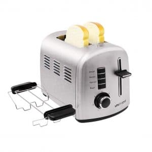 Catch Supplies 2 Slice Toasters, Stainless Steel Toaster