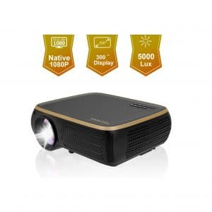 HOLLYWTOP M8 Native 1080P LED Projector