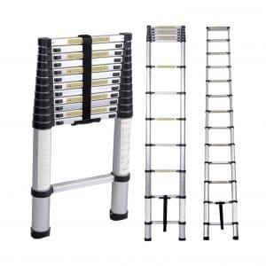 SogesHome Telescoping 12.5Ft Aluminum Ladder