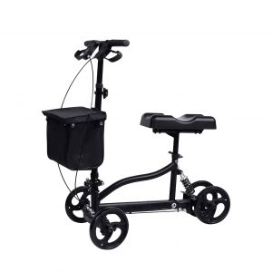 Windaze Steerable Knee Scooter Foldable Walker with Dual Brake