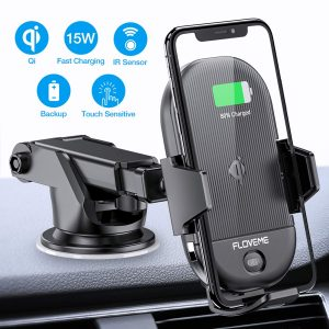 FLOVEME Wireless IR Sensor 15W Car Charger Mount