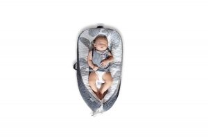 Mamibaby Ultra Soft Baby Lounger Baby Nest with Breathable Fiberfill and Ultra Soft Cotton (Leaves Pattern)