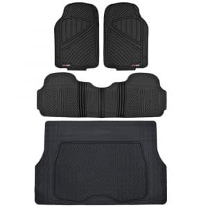 Motor Trend MT-773-884-BK Flextough Heavy Duty Rubber Car Floor Mats (Black)