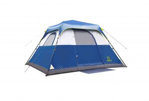 QOMOTOP Water-Proof Pop up Camping Tents with carrying Bag, Rainfly and Electric Cord Access