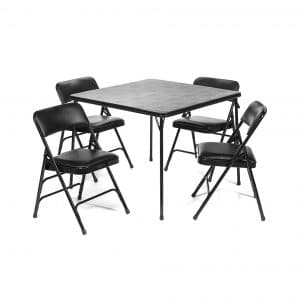 5pc. XL Series Folding Table and Padded Chair Set