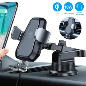 VANMASS Automatic Clamping Wireless Qi Car Charger Mount