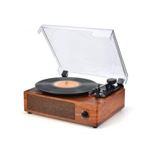 WOCKODER Turntable 3-Speed Record Player