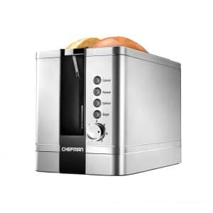 Chefman 2 Slice Toaster w:Extra Wide Slots (Stainless Steel)