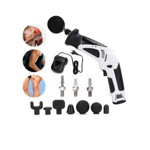 Jadpes Handheld Massager Gun 7 Replaceable Heads Deep Skin Massager