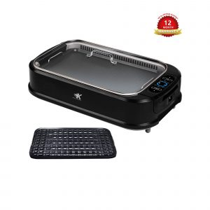 KCZAZY Electric Smokeless Grill and Hot Pot