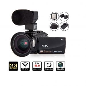 KOT 4K Camcorder Video Camera 48MP