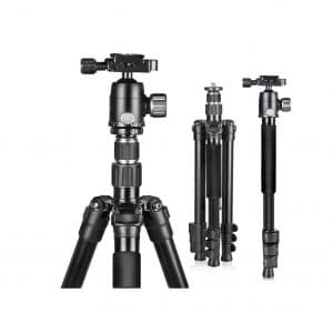 UBeesize 61.4.-Inches Portable Tripod for Digital Cameras