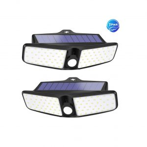 VOSONX Solar Outdoor Lights 100 LEDs Flood Lights