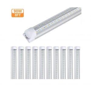 GAYUSAN 8FT LED Shop 10,000 Lumens Lighting