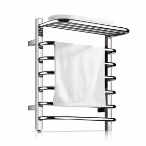 Homeleader Towel Warmer & Drying Rack, Wall-Mounted and Chrome