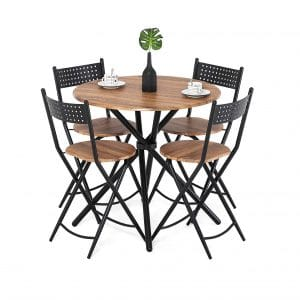 Homury 5pcs Dining Table Set
