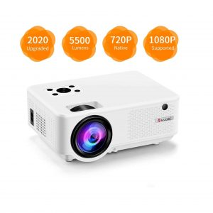 IKOLM Projector 5500 Lumens 1080P 210 Inches Display