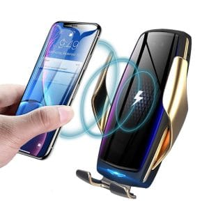 KMI CHOU IR Intelligent Wireless Car Charger with Automatic Clamping