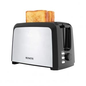 NOVETE 2 Slice Toaster with 7 Shade Settings, UL Certified Toaster