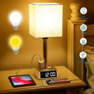 AUSFORE 4 USB Table Bedroom Lamp