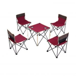 Costzon Kids Folding Table and 4 Chair Set