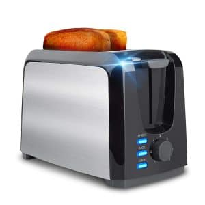 Evening 2 Slice Toaster, Stainless Steel with Removable Crumb Tray