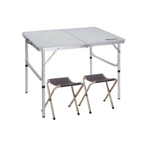 REDCAMP 3FT Aluminum Folding Table and Chairs