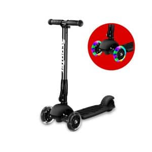 Greentest Scooter Foldable and Adjustable Height with PU Wheels (Black)
