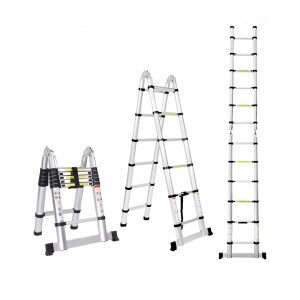 Jiahe 12.5FT Aluminum Telescoping Extension Ladder