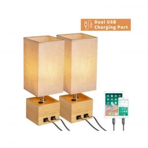 N&C Bedside Bedroom Table Lamps
