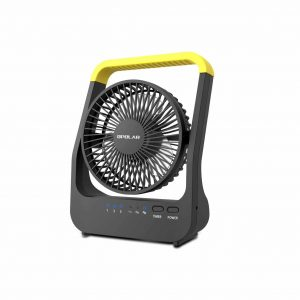 OPOLAR D-Cell Portable 3 Speeds Battery Operated Outdoor Desk Fan with Timer