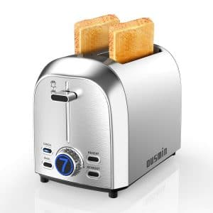 OUSMIN 2 Slice Toaster with an LED Timer Display