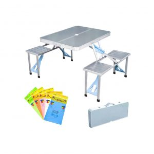 STONCEL Folding Picnic Table and Bench Set