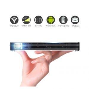 TOUMEI C800S Mini DLP Smart Projector