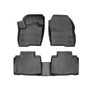WeatherTech 1st and 2nd Row Custom Fit Ford Edge FloorLiner, (Black)