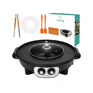 Food Party 2-In-1 Electric Smokeless Grill Hot Pot