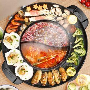 KKTECK 2200W 4.5L Electric Smokeless Grill
