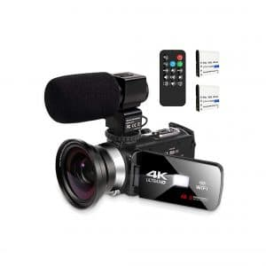 KOMERY Video Camera with Microphone