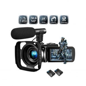 SUNLEA 2.7K 30MP Vlogging Cheap HD Video Camera