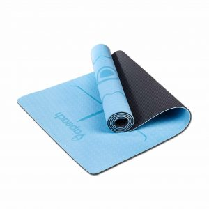 Yapeach Yoga Mat Alignment Line Non-Slip Mat