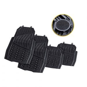 CARTMAN Non-Slip Flexible Rubber Car Floor Mat, Black