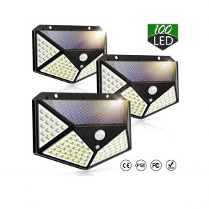 Piqiu Solar Motion Sensor Lights 100 LED Lights
