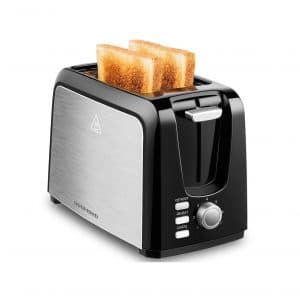 REDMOND 2 Slice Toaster with the Pop Up, Reheat and Defrost Functions